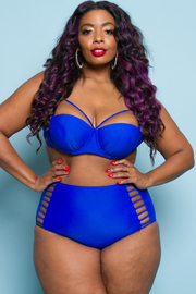 Plus Size Two Piece Sexy High Waist Swimsuit