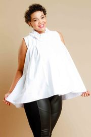 Plus Size Classy Merrow Neck Flared Top