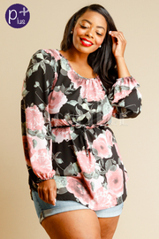 Plus Size Pretty In Pink Floral Loose Top