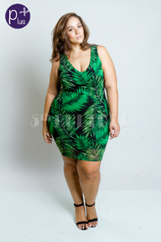 Plus Size Under The Palms Bodycon Dress