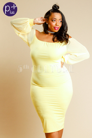 Plus Size Off Shoulder Solid Sexy Dress