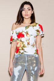 Romantic Roses Off Shoulder Top