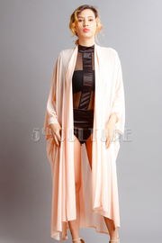 Oversized All Casual Mesh Slit Sides Cardigan