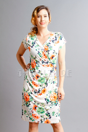 In Love With Flowers Wrap Dress