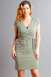 Pattern Printed Wrap Dress