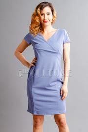 Surplice Printed Solid Midi Dress