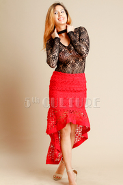 Crochet A Line Hi Lo Tango Skirt