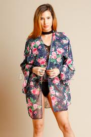 Pretty In Roses Sheer Kimono Cardigan
