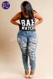 Plus Size Casual Summer Distressed Skinny Jeans
