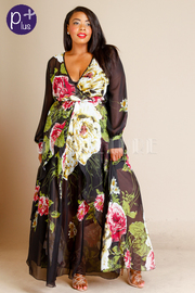 Plus Size Style In Spring Maxi Sheer Dress