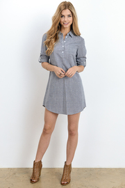 Button Down Chambray Shirt Dress
