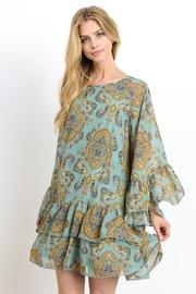 Pretty In Bohemian Ruffle Sheer Tunic Dress