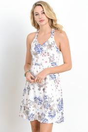 Floral Summer Sheer Mini Dress