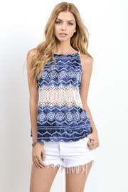 Sleeveless Pattern Tunic Top