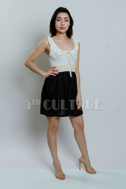 Scoop Neck Ruffle Banded Dress