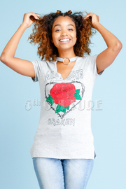 Wild Rose Printed Jersey Top