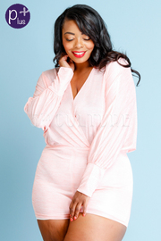 Plus Size Very Casual Surplice Romper