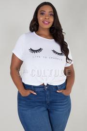 Plus Size Pretty Eyelash Eyes Crop Top