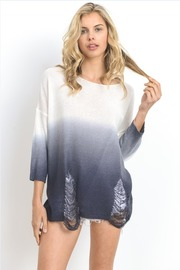 Two Toned Knitted Ombre 3/4 Sleeved Top