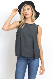 Raw Edge Summer Pleat Top