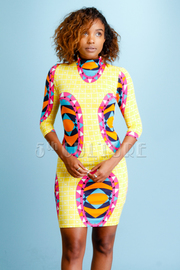 Ethnic Printed Bodycon Dress