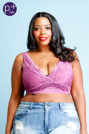 Plus Size Intimate Lacey Surplice Bralette