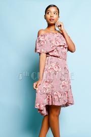 Off Shoulder Spring Floral Flared Dress