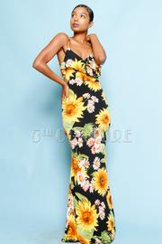 Sunflowers Galore Maxi Mermaid Dress