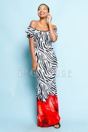 Wild About You Printed Maxi Dress