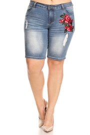 Plus Size Washed Out Bermuda Shorts