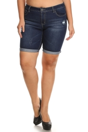 Plus Size Ripped Side Bermuda Shorts