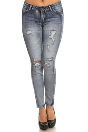 Floral Patch Side Skinny Jeans