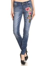 Floral Patch Side 5-Pocket Jeans