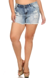 Plus Size Acid Denim Summer Shorts