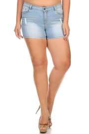 Plus Size Summer Light Denim Mini Shorts