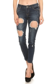 Casual Hole Ripped Off Jeans