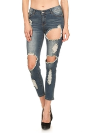 All Over Rocker Hole Ripped Jeans