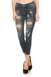 Snag & Ripped Off Skinny Jeans