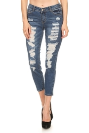 Destroyed In Style Denim Skinny Jeans