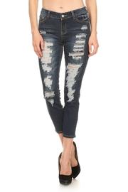 Casual Destroyed Denim Jeans