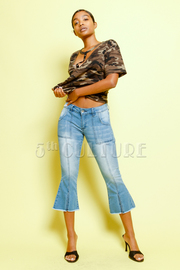 70's Style Fade Denim Jeans