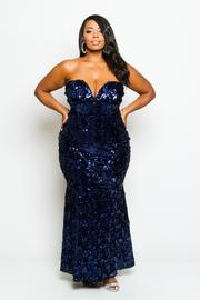 Plus Size Sweetheart Sequin Prom Mermaid Envy Dress