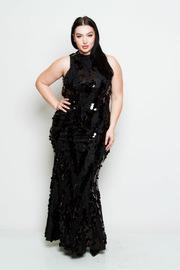 Plus Size Sparkle Sequin Cocktail Maxi Prom Dress