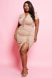 Plus Size Pretty In 2-Piece Crop Skirt Set