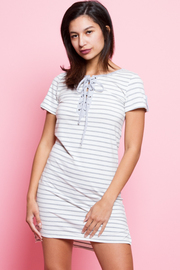 Tie Up Striped Tunic Dress