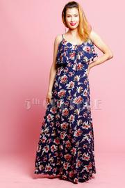 Flounce Floral Summer Maxi Dress