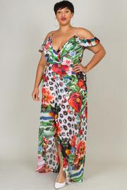 Plus Size Tropical Nights Maxi Sheer Dress