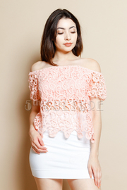 Off Shoulder Sweet Crochet Boho Top