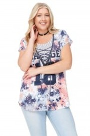 Plus Size Savage Sublimation Dolman Top