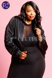 Plus Size Blossom Back Silky All Occasions Jacket